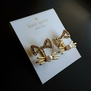 New! Kate Spade Out West Pave Cat Earrings!